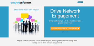 EmpireAvenue homepage screenshot