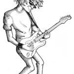RockStar playing guitar