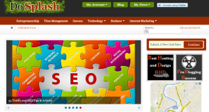DoSplash homepage screenshot.