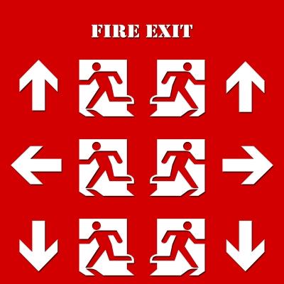 fire exit signals