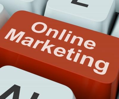 Online Marketing Keyboard red button