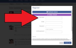 Klinkk screenshot for register feature