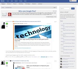 klinkk homepage screenshot of january 13th 2014