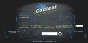Content Idea Generator screenshot