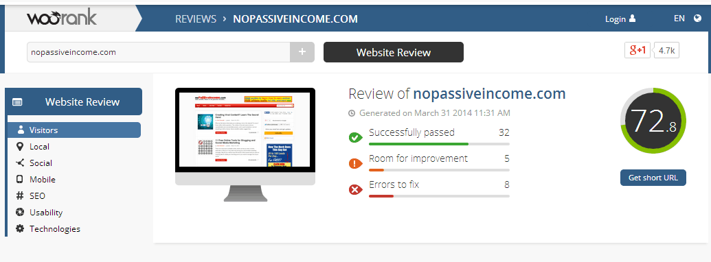 WOORank for NoPassiveIncome screenshot