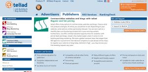 teliad homepage screenshot May 2015