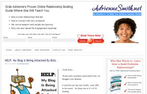 AdrienneSmith homepage screenshot - July 07th 2014.