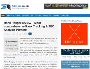 EnstineMuki homepage screenshot - July 15th 2014