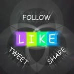 Follow, LIKE, tweet, share
