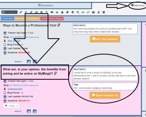 My Interview screenshot at MyBlogU