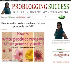 ProBloggingSuccess blog homepage screenshot - July 07th 2014