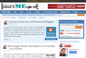 ShoutMeLoud homepage screenshot