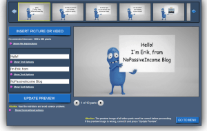 screenshot of editing a video with MakeWebVideo