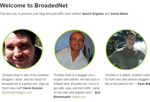 BroadedNet homepage screenshot