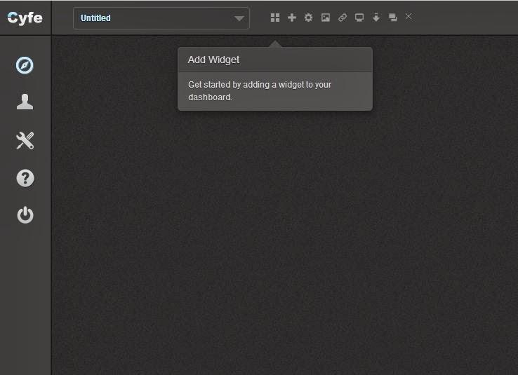 Screenshot for Adding Widgets on Cyfe dashboard