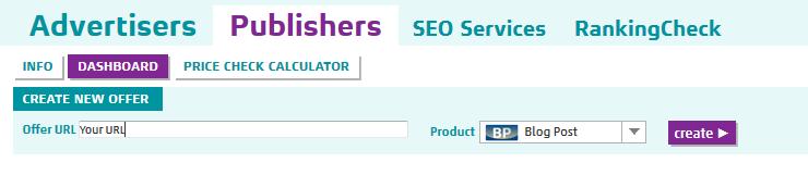 Screenshot of Dashboard at SeedingUp