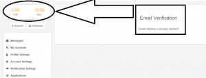 Bonus for email confirmation at Beenar - screenshot