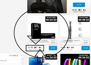 How an auction works at Beenar - screenshot