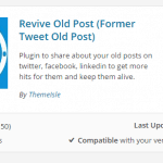 Revive Old Post plugin WP installing screenshot