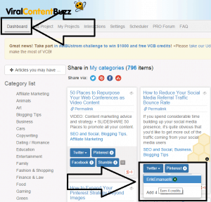ViralContentBuzz dashboard screenshot