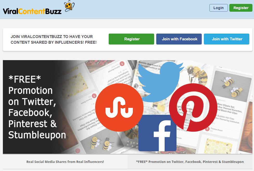 ViralContentBuzz homepage screenshot