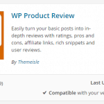 Wp Product Review plugin download detail - screenshot