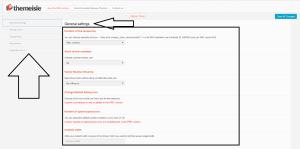 general settings of WP product review - screenshot