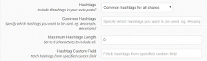 hashtags options at revive old post plugin - screneshot