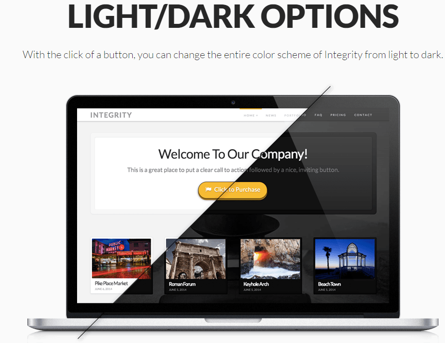 Integrity Light-Dark options