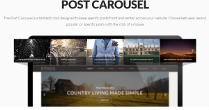 """Post Carousel"" feature at Ethos stack within X Theme"