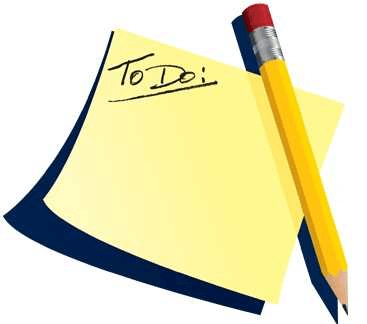 "a post-it with ""to-do"" words on it , next to a pencil"