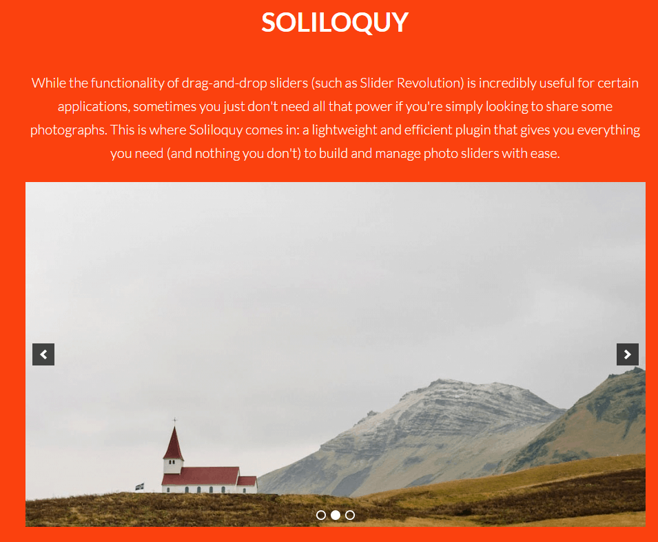 soliloquy extension within X THEME