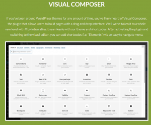 """visual composer"" extension within X THEME"