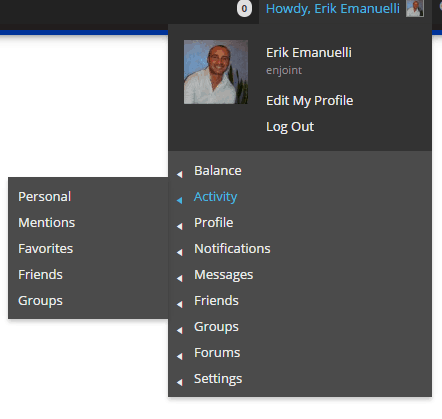 Erik Emanuelli activity at A_ha Now Blog community - screenshot