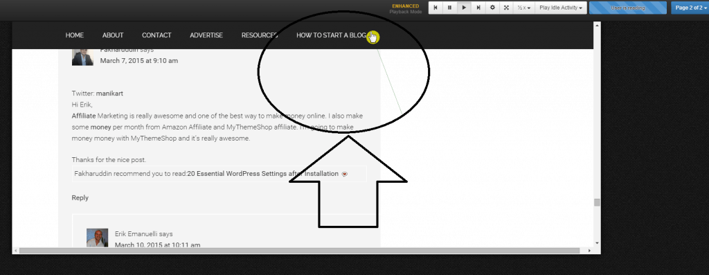 user conversion screenshot with LuckyOrange