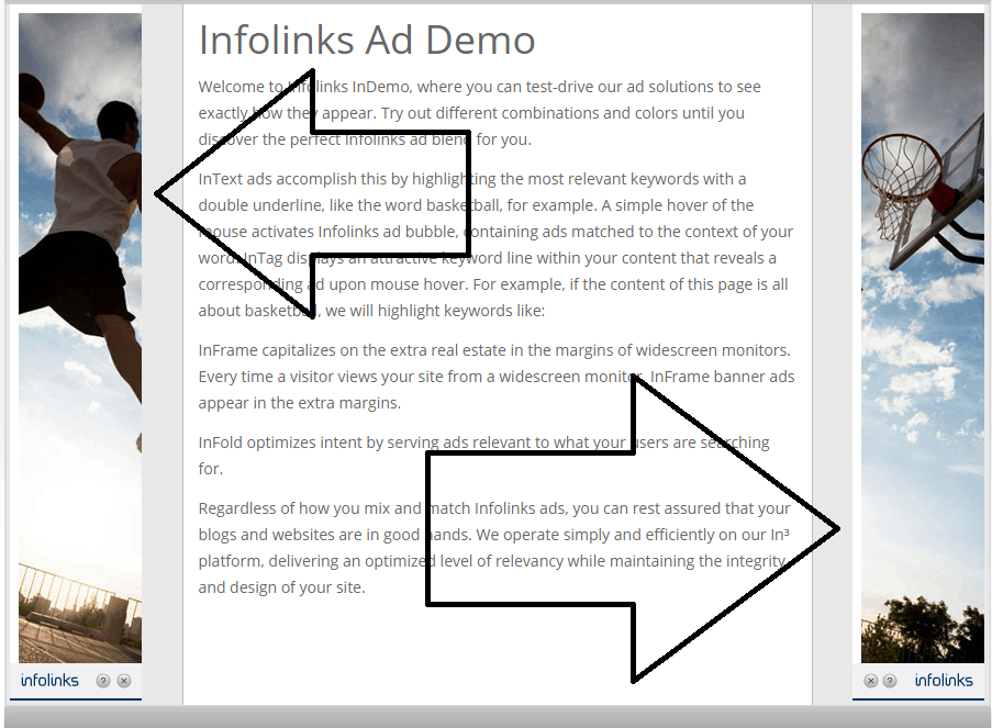 inframe infolinks ads - screenshot example