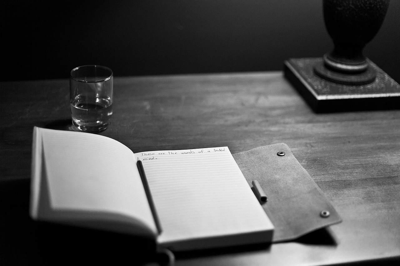 manuscript on a table