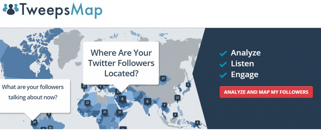 TweepsMap homepage screenshot
