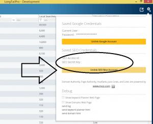LongTailPRO 3.0 version screenshot