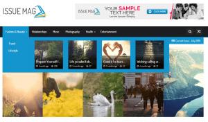 IssueMag PRO colors theme options - screenshot