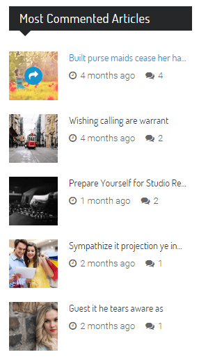 Most commented articles widget on IssueMag PRO