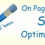 """On-Page SEO Optimization"" written on a paper with a blue pen"