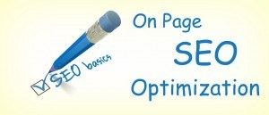 """""""On-Page SEO Optimization"""" written on a paper with a blue pen"""