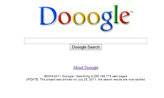Dooogle Homepage