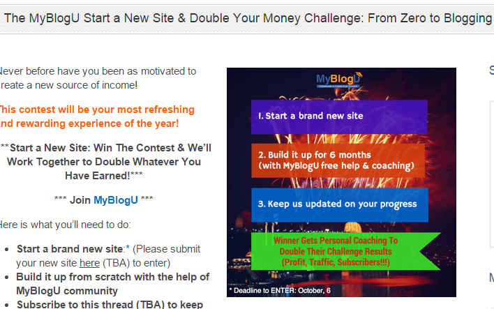 MyBlogU contest