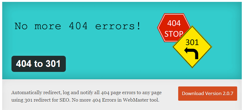 404 to 301 wordpress plugin