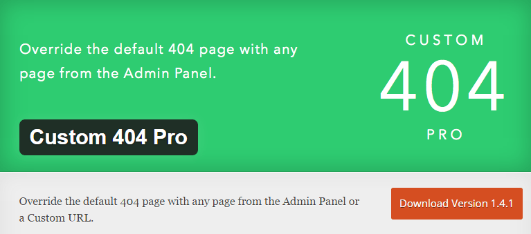 Custom 404 pro wordpress plugin
