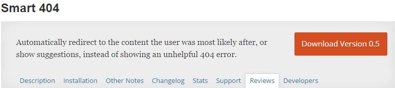 Smart 404 plugin