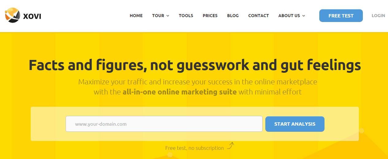 XOVI: All-In-One Marketing Suite (Alternative to SEMRush)