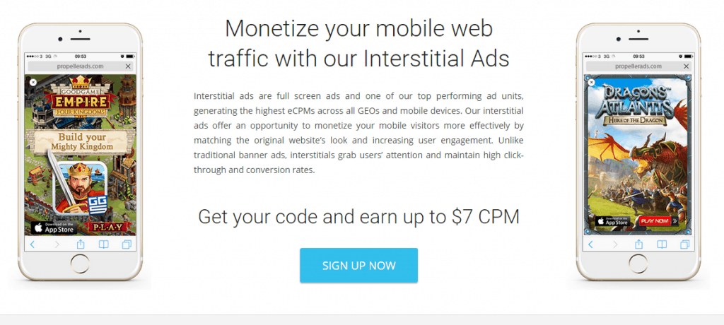 mobile interstitial ad